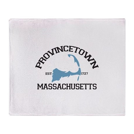 Provincetown MA - Varsity Design. Throw Blanket