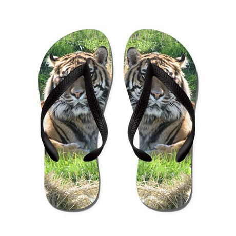 Helaine's Tiger Flip Flops