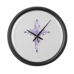 Cross Large Wall Clock