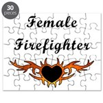 Female Firefighter Flames Puzzle