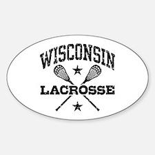 Wisconsin Lacrosse Sticker (Oval)