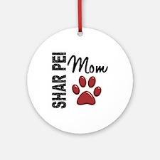 Shar Pei Mom 2 Ornament (Round)