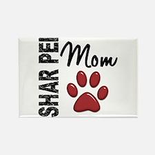 Shar Pei Mom 2 Rectangle Magnet (100 pack)