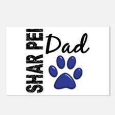 Shar Pei Dad 2 Postcards (Package of 8)