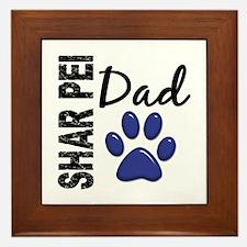 Shar Pei Dad 2 Framed Tile