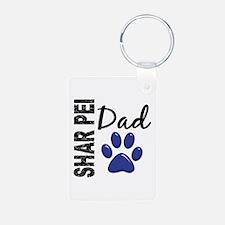 Shar Pei Dad 2 Keychains