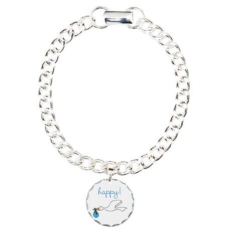 Happy Charm Bracelet, One Charm