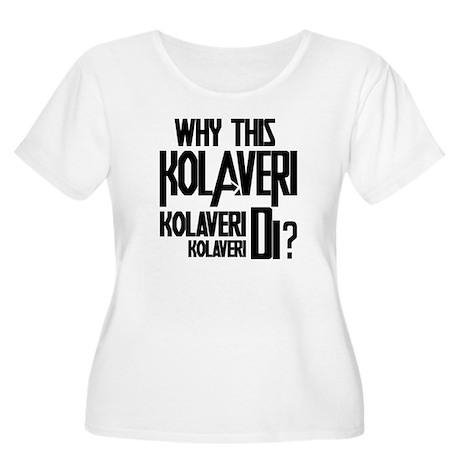 Why This Kolaveri Di? Women's Plus Size Scoop Neck