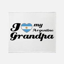 I love my Argentine Grandpa Throw Blanket