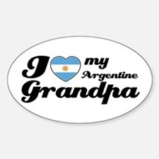 I love my Argentine Grandpa Sticker (Oval)