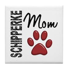 Schipperke Mom 2 Tile Coaster