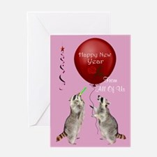 Happy New Year From All Of Us Greeting Card