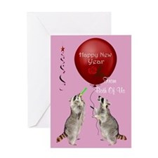 Happy New Year From Both Of Us Greeting Card