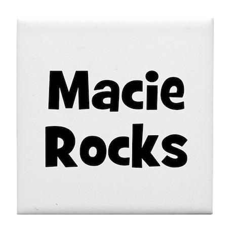 Macie Rocks Tile Coaster