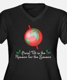Axial Tilt is the Reason Women's Plus Size V-Neck