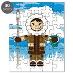 Cute Inuit Fisherman Puzzle
