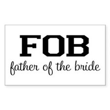 Father of the Bride Rectangle Decal