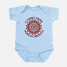 Red Lumbee Patchwork Infant Bodysuit