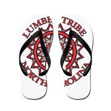 Red Lumbee Patchwork Flip Flops