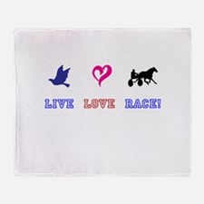 Live Love Race Throw Blanket