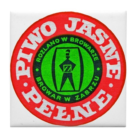 Poland Beer Label 5 Tile Coaster