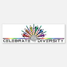 Celebrate Diversity Bumper Bumper Sticker