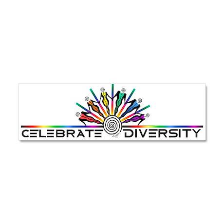 Celebrate Diversity Car Magnet 10 x 3