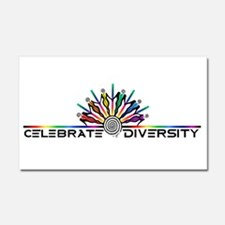 Celebrate Diversity Car Magnet 20 x 12