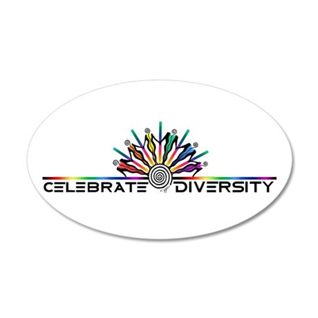 Celebrate Diversity 35x21 Oval Wall Decal