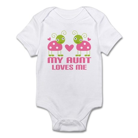Aunt Loves Me Ladybug Infant Bodysuit