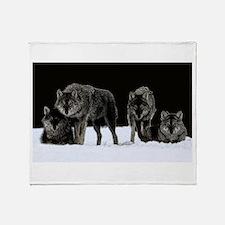 Dark Wolves Throw Blanket