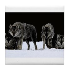 Dark Wolves Tile Coaster