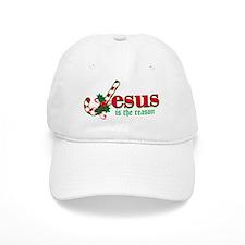 Candy Cane Jesus Baseball Cap