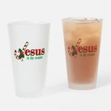 Candy Cane Jesus Drinking Glass