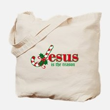 Candy Cane Jesus Tote Bag