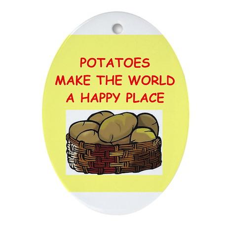 potatoes Ornament (Oval)