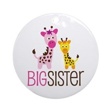 Giraffe Big Sister Ornament (Round)