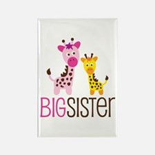 Giraffe Big Sister Rectangle Magnet