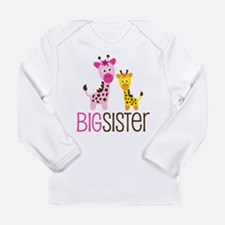 Giraffe Big Sister Long Sleeve Infant T-Shirt