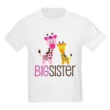 Giraffe Big Sister T-Shirt