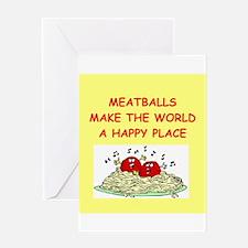 meatballs Greeting Card