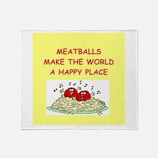 meatballs Throw Blanket