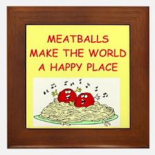 meatballs Framed Tile