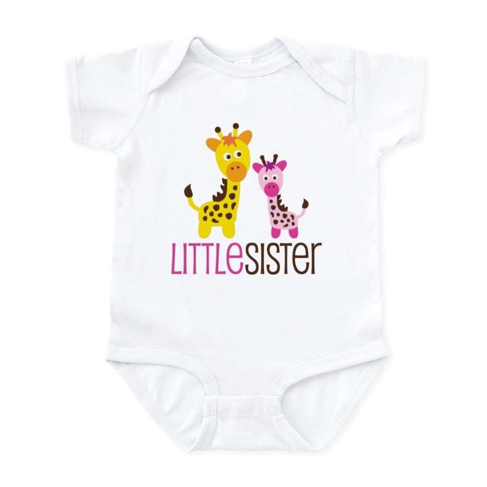 CafePress Giraffe Little Sister Infant Bodysuit