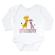 Giraffe Little Sister Long Sleeve Infant Bodysuit