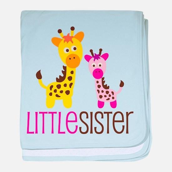 Giraffe Little Sister baby blanket