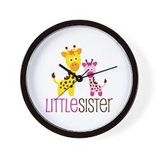 Giraffe Little Sister Wall Clock