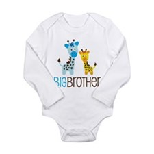 Giraffe Big Brother Long Sleeve Infant Bodysuit