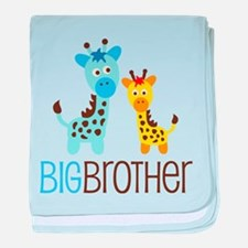 Giraffe Big Brother baby blanket