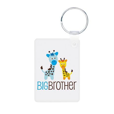 Giraffe Big Brother Aluminum Photo Keychain